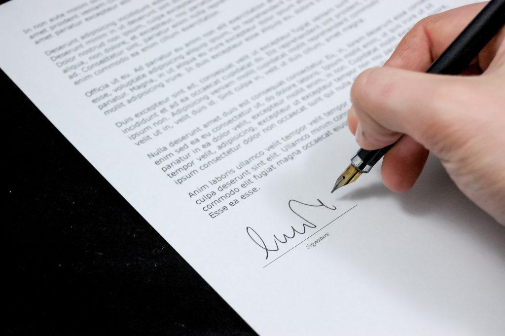 Proposal signing