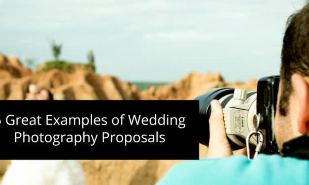 5 Great Examples of Wedding Photography Proposals & Packages