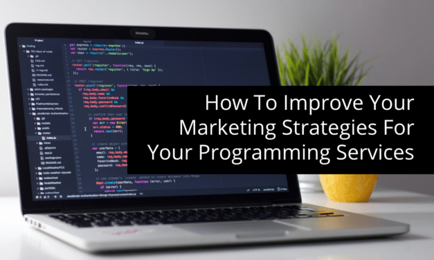 How To Improve Your Marketing Strategies For Your Programming Services